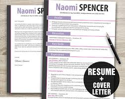 creative resume template instant download resume cover