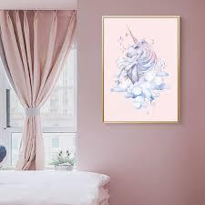 toile chambre enfant licorne peinture poster à l aquarelle tableau sur toile