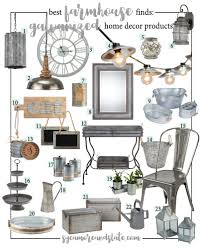 List Of Home Decor Stores Farmhouse Galvanized Home Decor