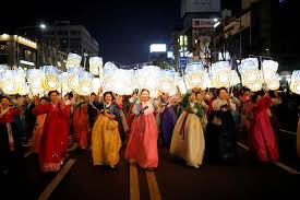 buddhists in asia are throwing buddha a big beautiful birthday