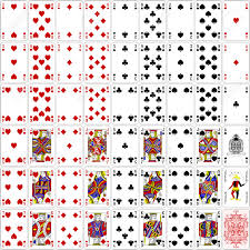 cards set four color classic design 400 dpi royalty