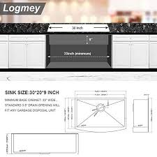 what size sink fits in 30 inch cabinet 30 farmhouse sink black logmey 30 inch kitchen sink stainless steel gunmetal black farmhouse sink apron front 16