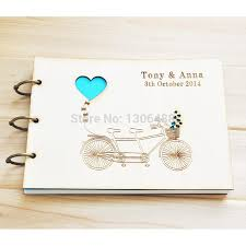 rustic wedding photo albums best personalized wedding guest book rustic wedding guestbook