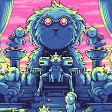 rick and morty halloween background dan mumford