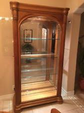 Display Cabinet With Lighting Oak Curio Cabinet Ebay