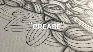 how to draw the zentangle pattern u0027crease u0027 youtube
