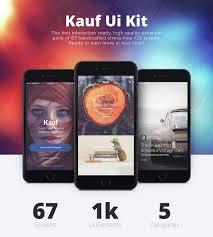 kauf ios ui kit 67 template for sketch by yebocreative