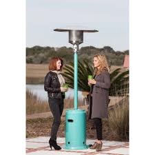 Propane Patio Heaters Reviews by Fire Sense Aqua Blue Powder Coated Patio Heater Walmart Com