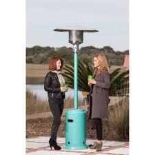 Living Accents Patio Heater by Fire Sense Aqua Blue Powder Coated Patio Heater Walmart Com
