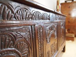 coffer chest blanket box exceptional charles ii oak c1680 495314