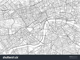 Black And White Map Black White Vector City Map London Stock Vector 587926553