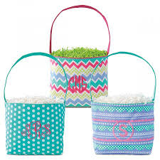 easter buckets monogrammed fabric easter buckets lillian vernon