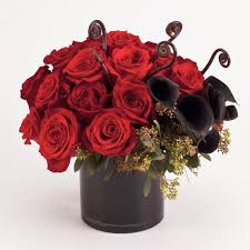 black roses delivery cabernet bouquet roses and black calla lilies same day nyc