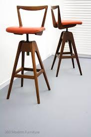 Retro Garden Chairs Mid Century X 2 Th Brown Swivel Bar Bench Stools Retro Vintage