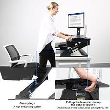Ergonomic Standing Desk Height Adjustable Standing Desk Height Elevating Desktop Table Monitor