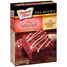 duncan hines perfect size cake mix red velvet dream 9 4 oz