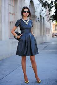 statement necklace with dress images 15 ideal outfits to wear with statement necklaces all season jpg