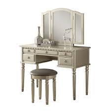 Vanity Set Furniture Poundex Furniture F407 Bobkona St Croix Vanity Set With Stool