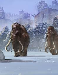 snow giants woolly mammoths behance