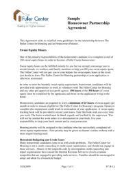 fillable online fullercenter sample homeowner partnership