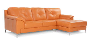 Leather Trend Sofa Modern Sectional Sofa Orange Leather Trend On Dfs Ainsley Right