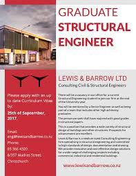 position available graduate structural engineer u2014 lewis u0026 barrow