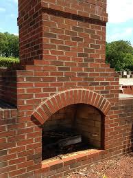 brick outdoor fireplace in birmingham fireplaces pinterest