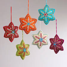 embroidered christmas embroidered christmas ornaments chritsmas decor