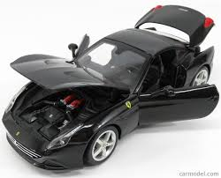 Ferrari California Black - burago bu16003bk scale 1 18 ferrari california t spider closed