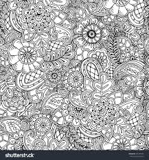 seamless asian ethnic floral retro doodle stock vector 285455552