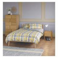 Manchester United Double Duvet Cover Pixelate Grey And Yellow Patterned Jacquard Double Duvet Cover