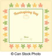 retro style thanksgiving menu template with pumpkin and vector
