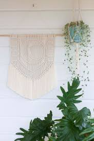 152 best macrame wall decor images on pinterest macrame wall leaving the city macrame wall hanging natural cotton fibre art tapestry