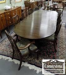 Henkel Harris Dining Room Furniture Henkel Harris Set Of 8 Solid Mahogany Queen Anne Chairs In Finish