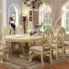 wyndmere royal presence antique white finish formal dining room