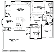4 bedroom 1 story house plans house plans 4 bedroom 3 bath one story zhis me