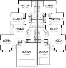 Duplex House Plans For Narrow Lots Plan 59323nd Beautifully Combined Duplex Duplex Plans