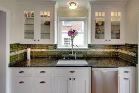 wonderful granite backsplash remodeling ideas with bridge faucet