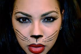 cat costume face makeup halloween face amp body art body painting