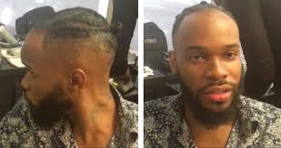 men hairstyles create a man bun with cornrows knots