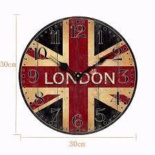 new british style vintage england london flag creative round wood