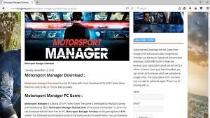 how to download and install motorsport manager free on pc without