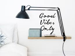 good vibes only typographic wall sticker wall decal home decor good vibes only typographic wall sticker wall decal home decor bedroom decor typography art wall art positive quote christmas gift