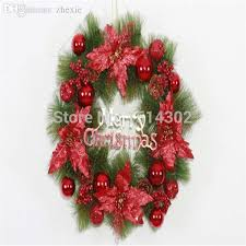 Decorated Christmas Wreaths Wholesale by Wholesale 47cm Christmas Decoration Supplies Christmas Wreath Door