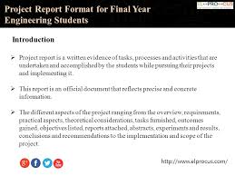 project report format engineering surveys project report sample