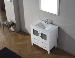 Single Bathroom Vanity by Virtu Usa Dior 32 Single Bathroom Vanity Set In White Bathtubs Plus