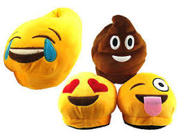 kids adults plush novelty emoji poo heart tongue slippers xmas