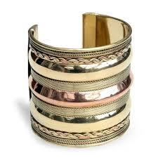 cuff bracelet images Handmade brass and copper three tier cuff bracelet india free jpg