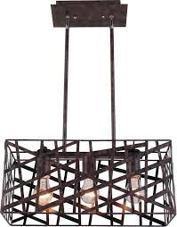 artcraft 3 light island light bronze dining room contemporary