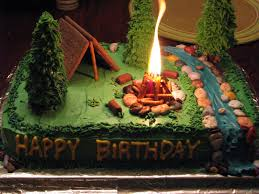 camping cake so cool if you decide to do a camping theme the